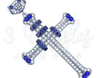 Blue Accent Religious Pendant