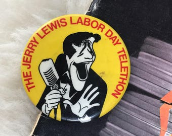 Vintage Jerry Lewis Button