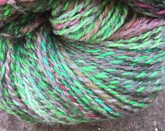 hand spun and hand dyed yarn