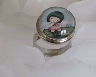 Ring mamange - the little girl and bird-