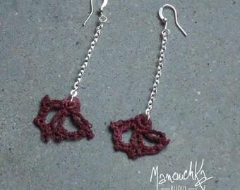Hook - silver fan earrings
