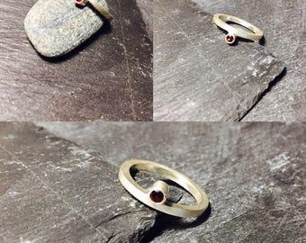 Garnet Silver Ring