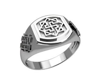 Valkyrie Valkirie Symbol Ethnic Men Ring Sterling Silver 925 SKU30320