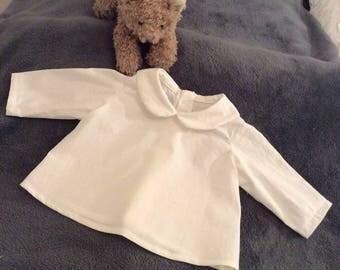 Choose cotton Peter Pan collar blouse