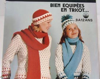 French - knitted crochet art knitting booklet  40