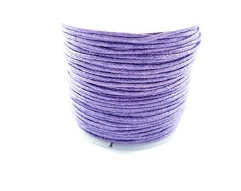 5 Metters Purple 1 mm for your creations, cotton cord waxed cotton waxed cord