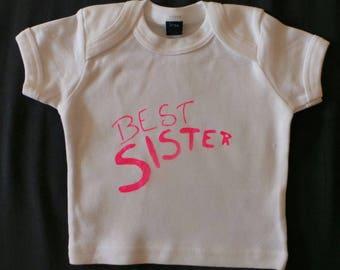 """""""BEST Sister"""" girl t-shirt"""