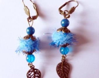 Winter themed tassel earrings