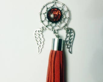 Red dream catcher necklace