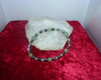 Beautiful genuine HEMATITE gemstones and AVENTURINE bracelet
