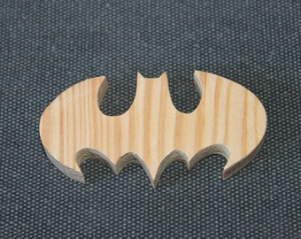 Batman logo wood