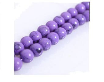 Set of 4 beads in violet
