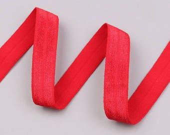 Elastic flat red color