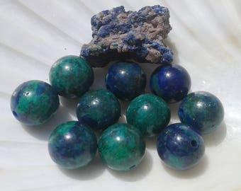 Azurite Malachite 10mm Round Beads