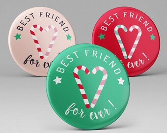 1 badge pins or Best Friend fridge magnet for ever / girlfriend gift