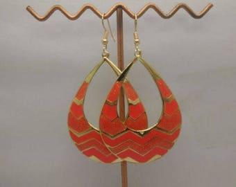 lovely enamel earrings Orange