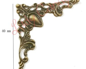 4 corners scalloped and carved for Protection and finish #310111 Cartonnage projects