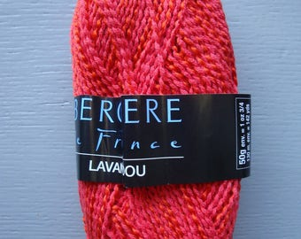 10 balls of red wool Bergère de france LAVANDOU