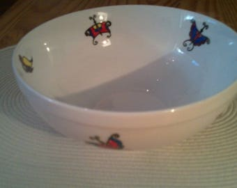 porcelain bowl painted with a unique ' Butterfly' brush