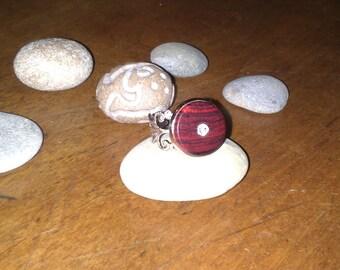 With purple wood Adjustable ring filigree