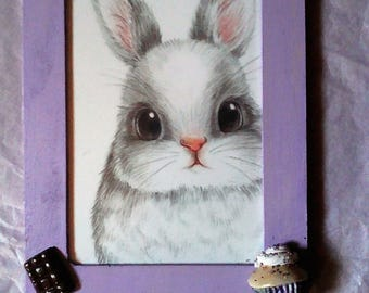 "Very nice vintage ""Bunny and gluttony"" frame"