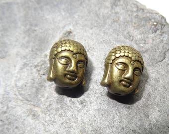 "bronze metal 2 charms Buddha"".  antique size 11 x 9 x 8 mm"