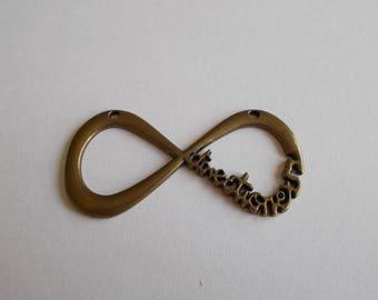 1 large bronze infinity pendant connector