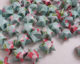 Set of Liberty Blue origami stars