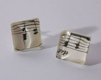 Music Notes earrings studs