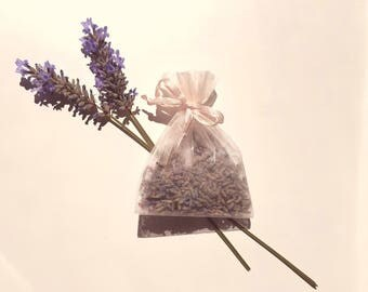 Beautiful Homemade Lavender Sachet & Homemade Dried Lavender Bouquets