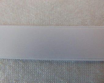 Double faced satin ribbon, white (S-0401)