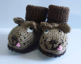 Booties for baby - small dogs - size 3-6 months