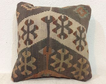 Beautiful Pastel Pillow Cover,12x12 Inches Pillow,Interior Cushion,30x30 Cm Pillow ,kilim