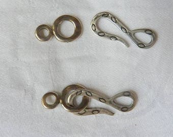 2 beautiful house Venot Silver Clasp-hook