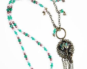 Elephant Charm Necklace, Elephant Jewelry, One of a Kind