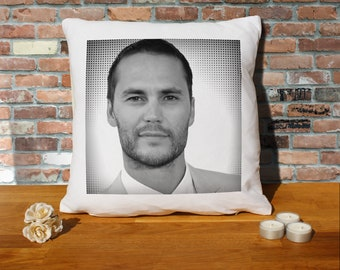 Taylor Kitsch Pillow Cushion - 16x16in - White