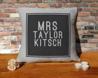 Taylor Kitsch Pillow Cushion - 16x16in - Grey