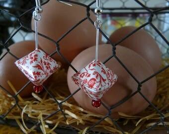 Origami berlingots fancy earrings