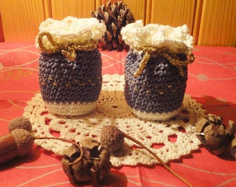 Pair of small bags or purses made of cotton (No.2)