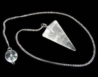 Rock crystal cone pendulum
