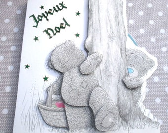 "Greeting card 265 Teddy bear ""Merry Christmas"""