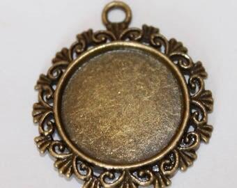 medium bronze cabochon, 34 * 30 mm, 20 mm inside