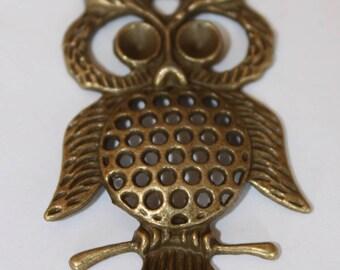 OWL brass pendant, 43 * 34 mm