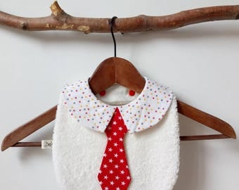 Bib baby boy tie and collar.