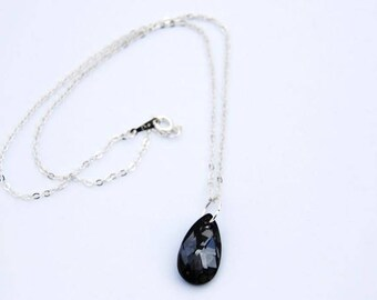 Exquisite Swarovski Silver Night Crystal Necklace