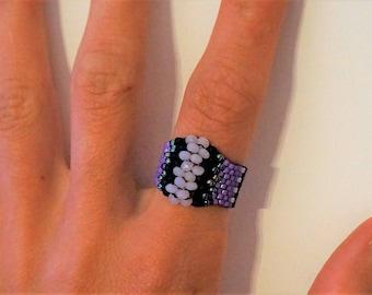 Miyuki Delica, purple ring