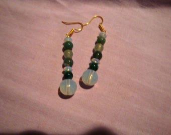 Tender earrings leaf