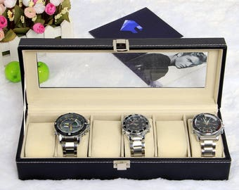 1 Rectangle 307 110 x 76mm x 6 watch display box