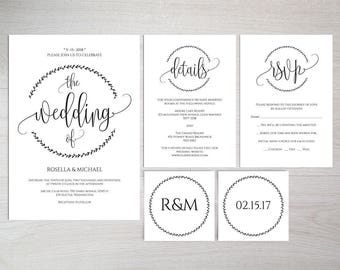 Custom Printable Wedding Invitation -  DIY Invites to Amaze Your Guests