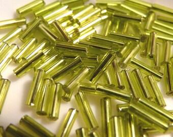 Green tube beads anise, 5 g sachet